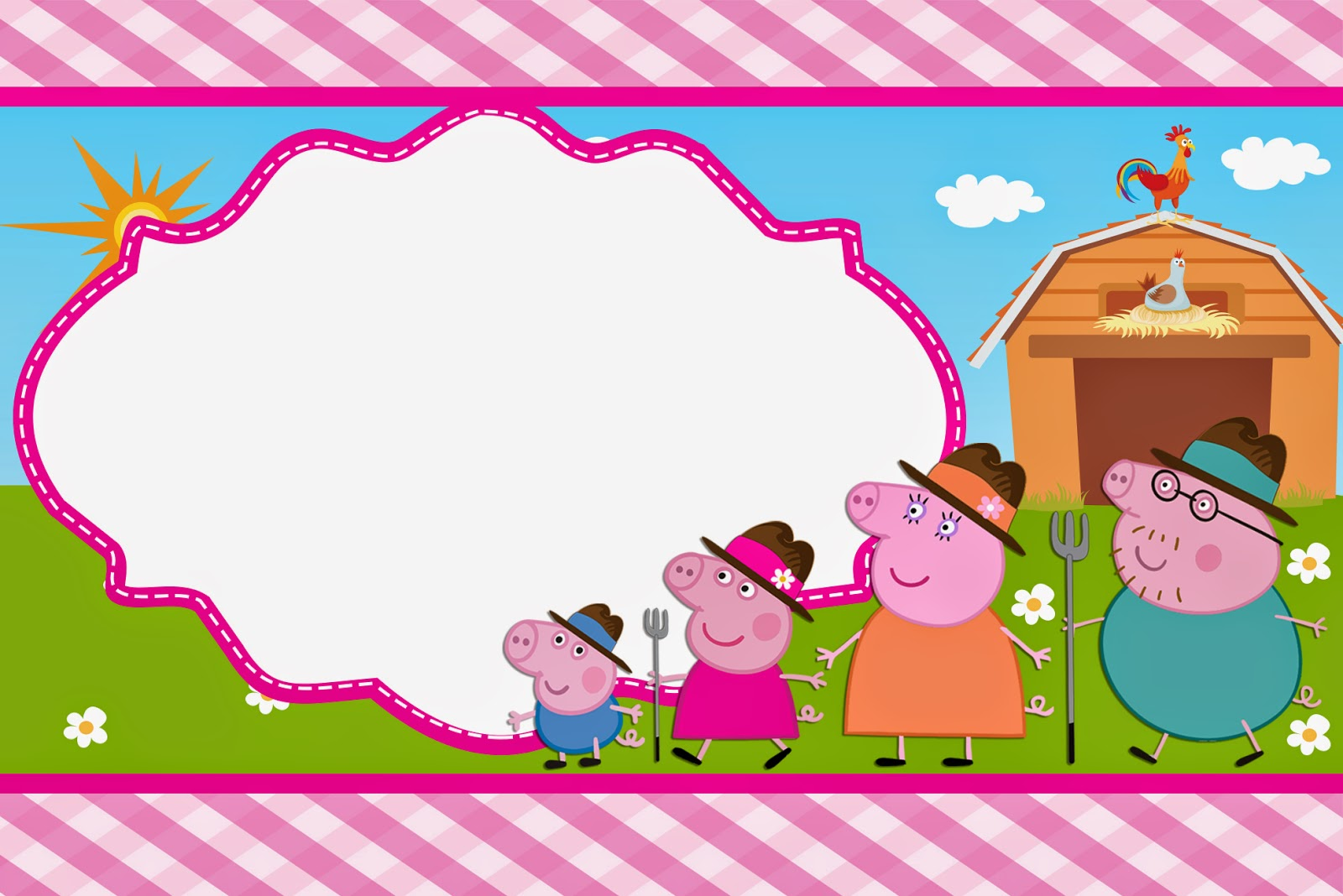 Peppa Pig At The Farm Free Printable Invitations Oh My Fiesta