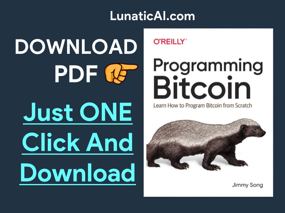 Programming Bitcoin PDF Download