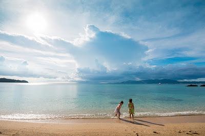 沖縄 家族写真 海 フォートカノア