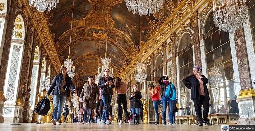 Salão dos Espelhos no Château Versaille - Diário de Bordo - 3 dias em Paris