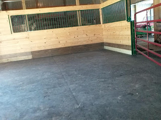Greatmats interlocking stall mats in horse barn