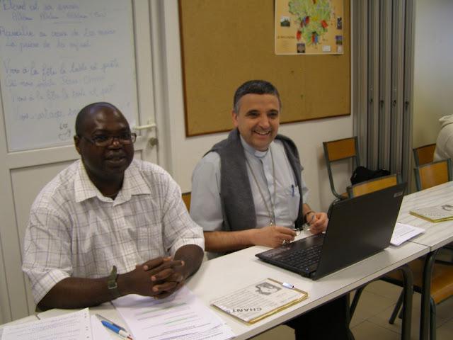 Père Roger Kumbu-Situ et Mgr Lebrun