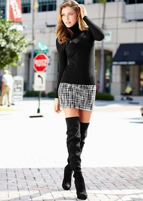 Faldas Cortas con Botas