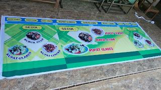 Banner Gerobak Jualan Minimalis