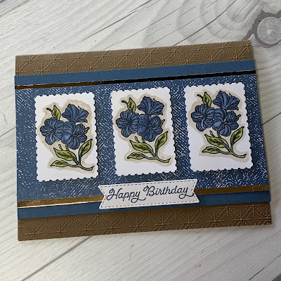 Floral Birthday card using Stampin' Up! Posted For You Stamp Set