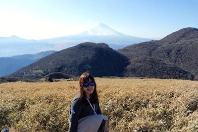 The top of Mount Komagatake Hakone Japan