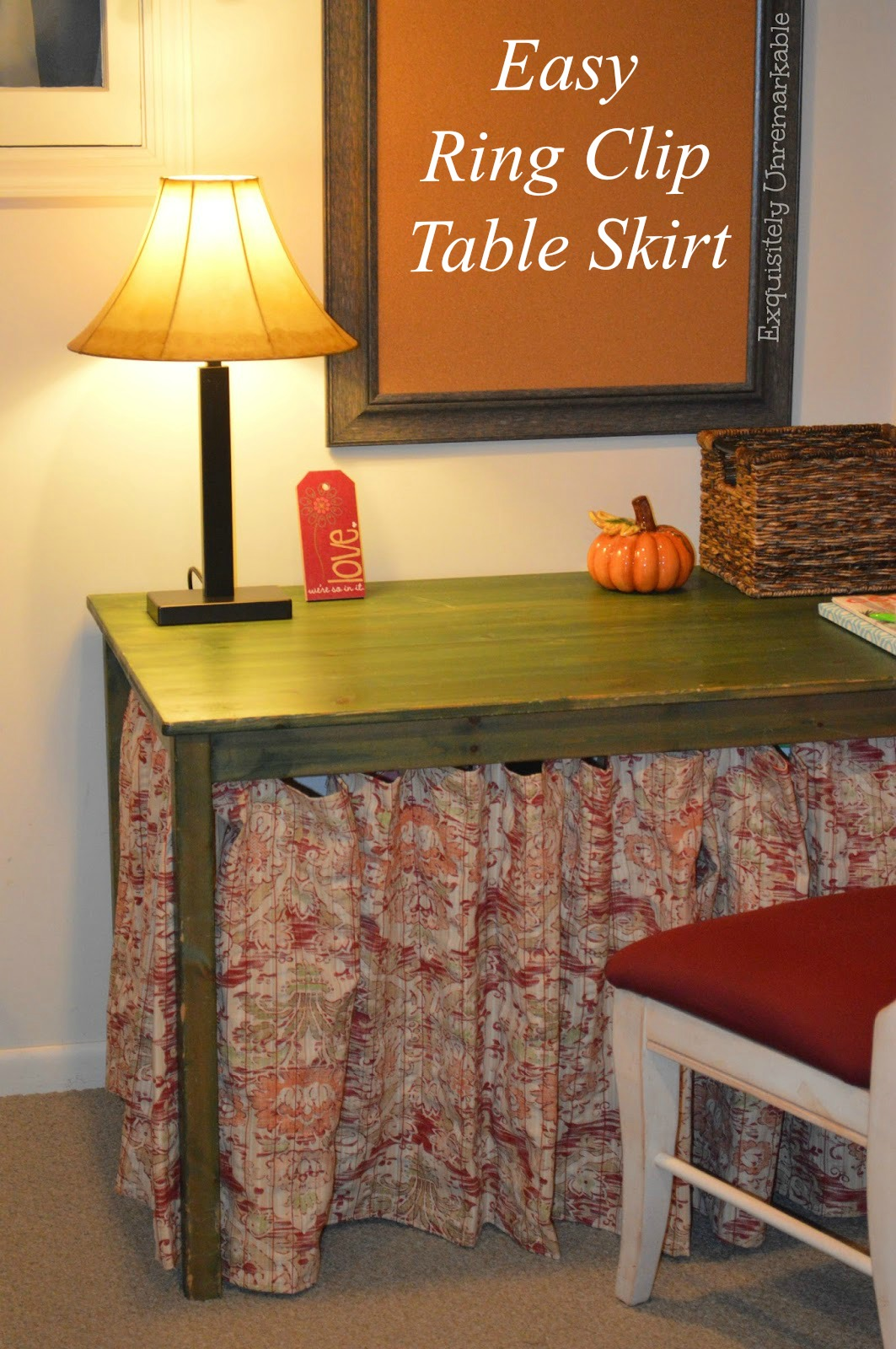 How To Skirt A Wooden Table
