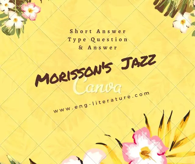 "19 Important Short Answer Type Questions & Answers from Toni Morrison's ""Jazz"""