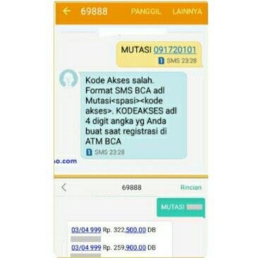 cara cetak ulang bukti transfer bca lewat sms banking