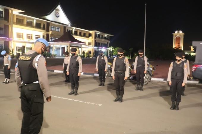 Personel Ditsamapta Polda Banten Laksanakan Quick Wins Program 3, di Wilayah Hukum Polres Serang Kota