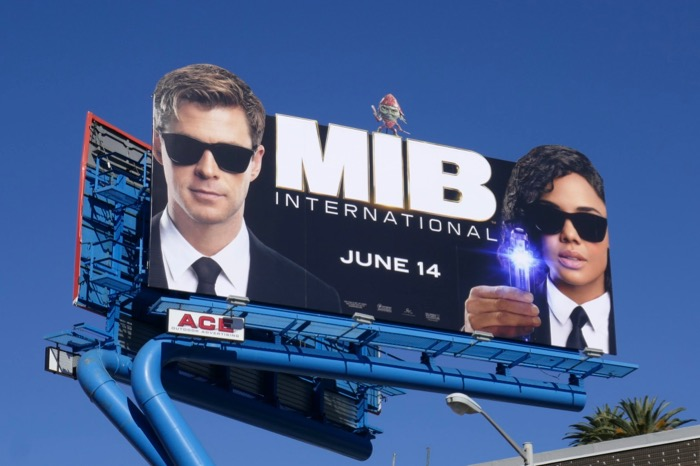 Men in Black International movie billboard