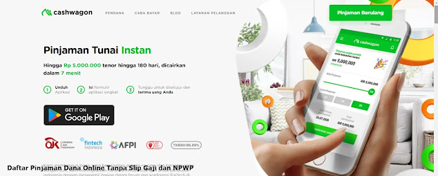 Pinjaman Dana Online Tanpa Slip Gaji dan NPWP