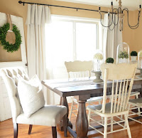 Decorating farmhouse dining room