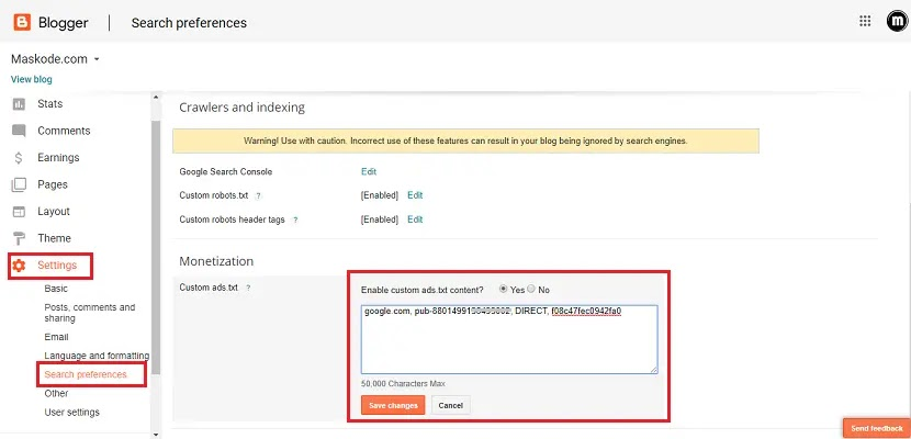 Cara Mengaktifkan Ads.txt di Blogspot