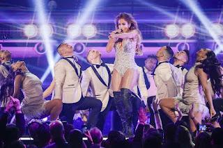 Jennifer Lopez Perform During the 61st Grammy Awards
