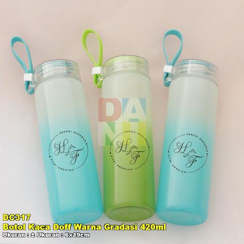 Botol Kaca Doff Warna Gradasi 420ml