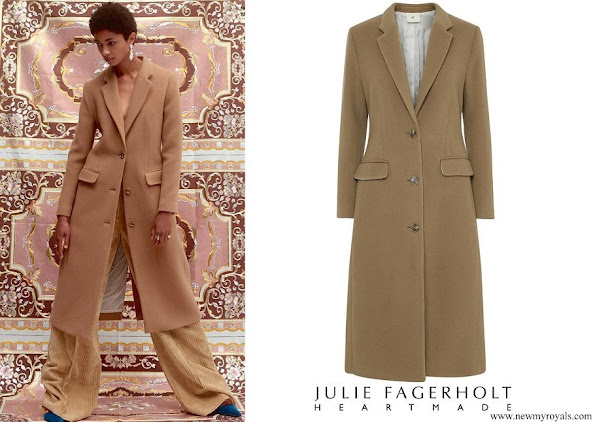 Crown Princess Mary wore Julie Fagerholt Heartmade Raki Coat