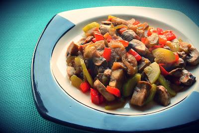 Bukiet warzyw z patelni