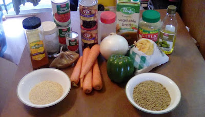 photo of the ingredients for the chili