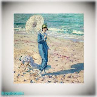 Πίνακας ζωγραφικής Frederick Carl Frieseke (On the beach, Στην παραλία)