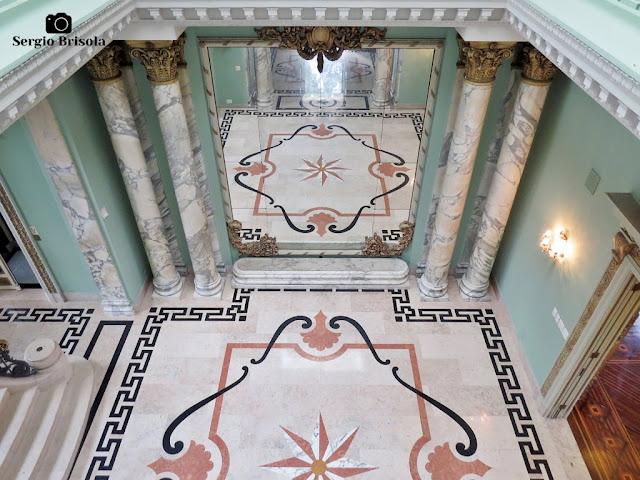Palacete Violeta (vista superior do grande espelho do Hall)