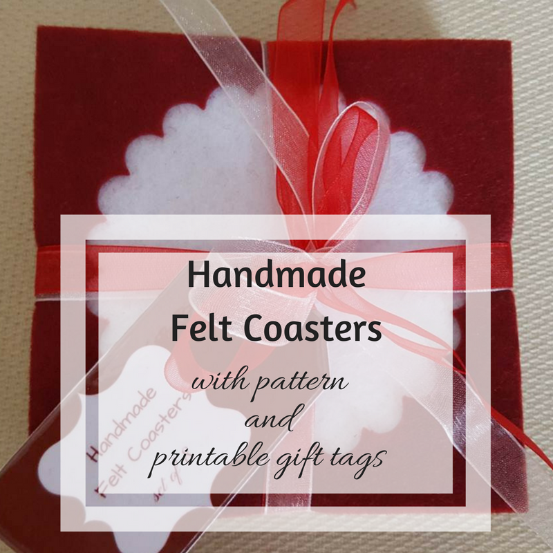 image relating to Printable Coasters identified as Homemade felt coasters + cost-free printable reward tags Holding