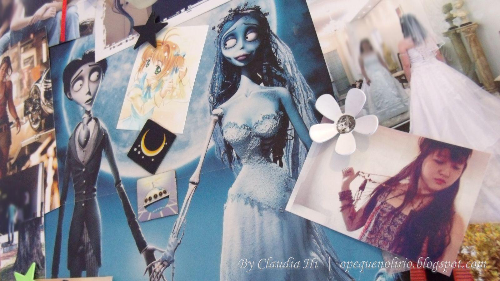 mural variado, corpse bride, a noiva cadaver, o pequeno lírio, claudia hi