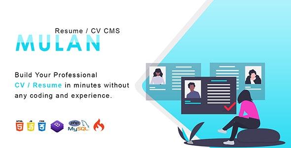 Mulan v1.2 - Resume / CV CMS Download