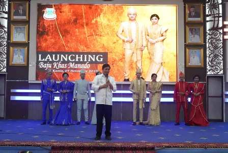 Walikota Manado Launching Baju Khas Daerah Kota Manado
