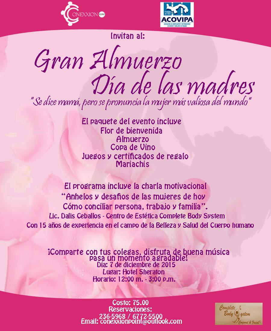 Mundo Empresarial Acovipa Gran Almuerzo Día De Las Madres 2015