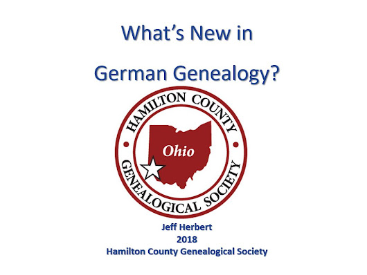 What's New in German Genealogy? by Jeff Herbert
