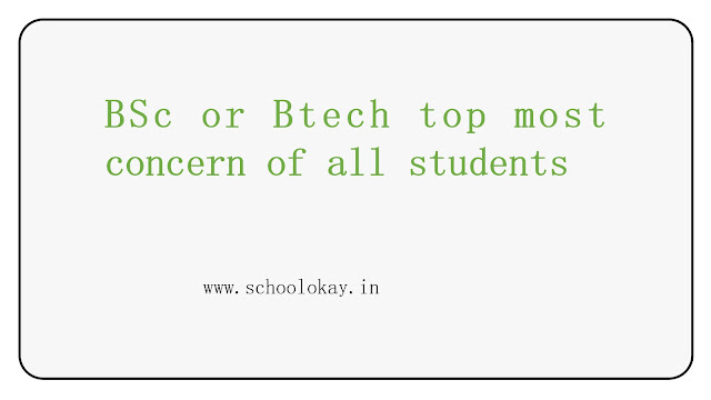 Bsc or Btech after your class 12th.