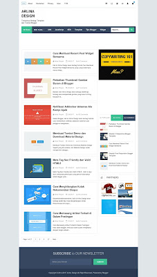 Download Template Blog Arlina Design Gratis