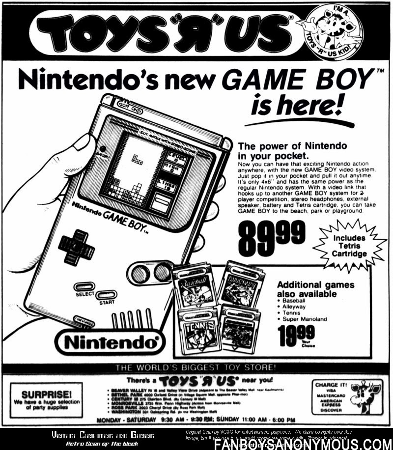 gamboy nintendo toys 'r' us advertisement newspaper