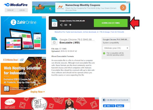 Lalu Langkah Terakhir Tinggal Klik Download Pada Situs Tempat Penyimpanan Software Kami di Google Drive/Media Fire/Zippy Share.