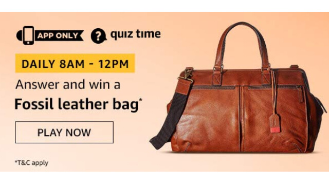 Amazon Fossil Leather Bag Quiz Answers Today win - Fossil Leather Bag