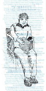 sketch on a receipt