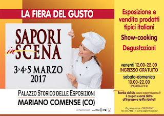 Sapori in Scena 3-4-5 marzo Mariano Comense (CO)