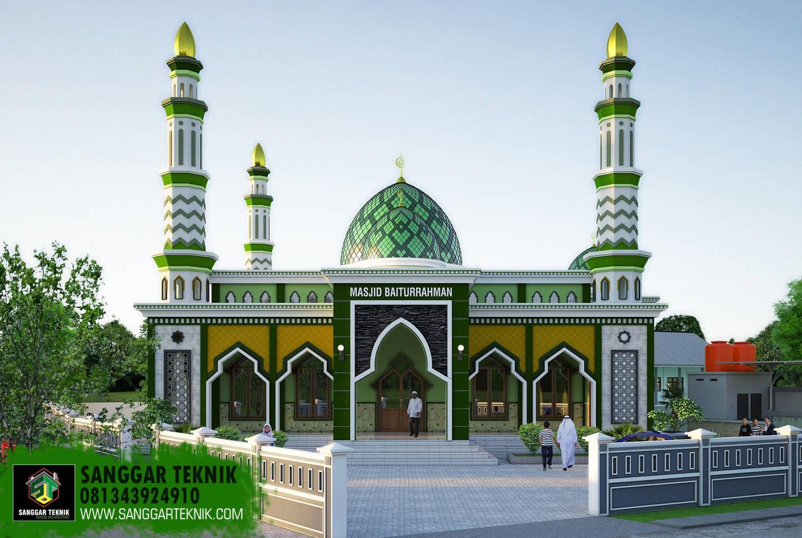 Desain Pagar Masjid Modern - Rumah Joglo Limasan Work