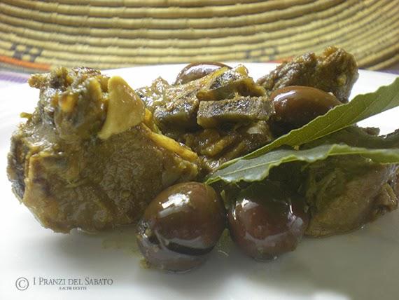 Sardinian lamb with olives