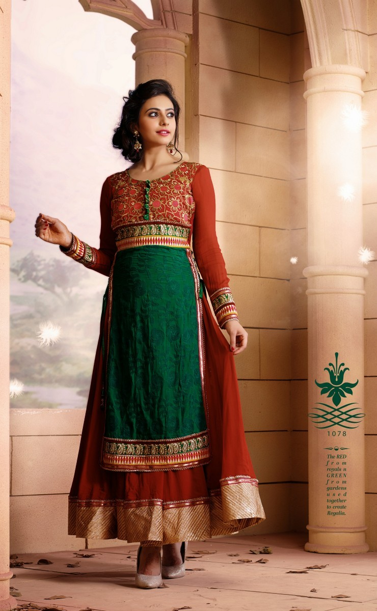 Rakul Preet Beautiful Stills In Red Designer Dress