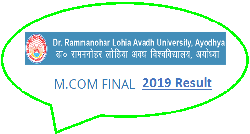 RMLAU Faizabad M.Com Final Result 2019