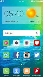 Tema iOS 9 (iPhone) untuk Oppo F1