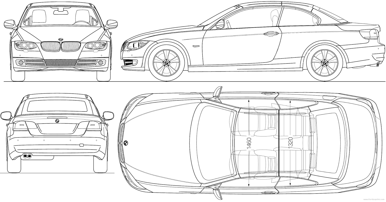 CGfrog: Most Loved Car Blueprints for 3D Modeling