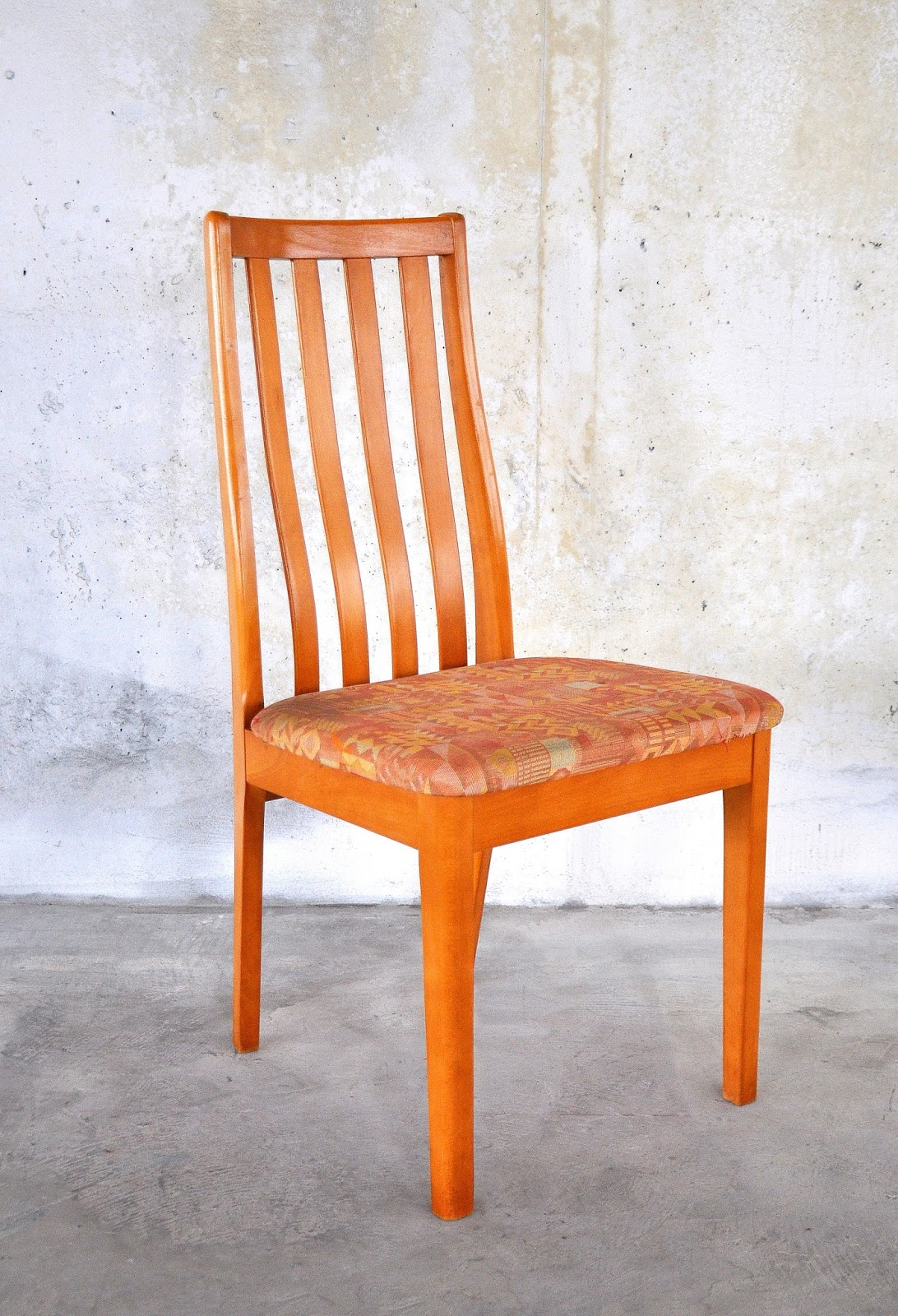 danish modern dining chair table and chairs garden asda select set of 6
