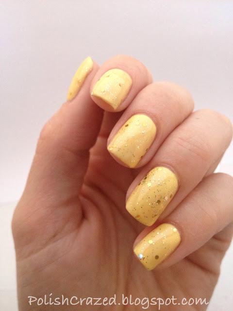 Polish Crazed Banana Bandana And Gold Glitter