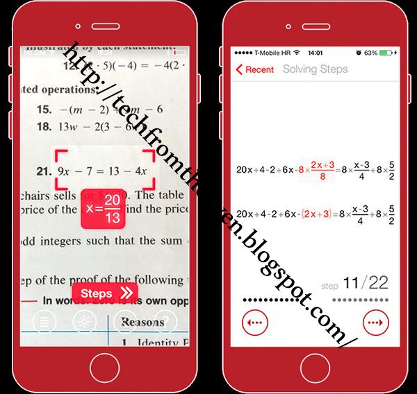 كيفية حل المعادلات الرياضية باستعمال كاميرا الهاتف
