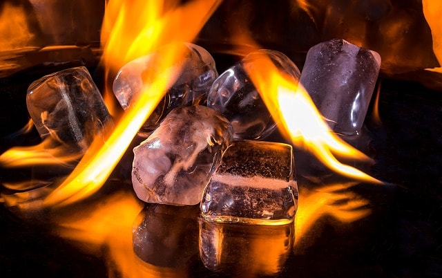What is the specific heat of ice?
