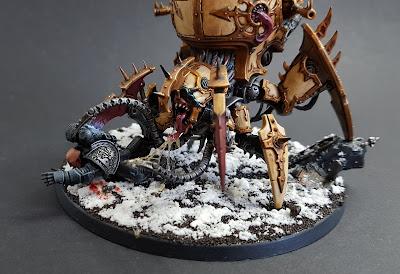 Venomcrawler daemon engine for Creations of Bile army, part of the DZTV Hobbypocalypse challenge