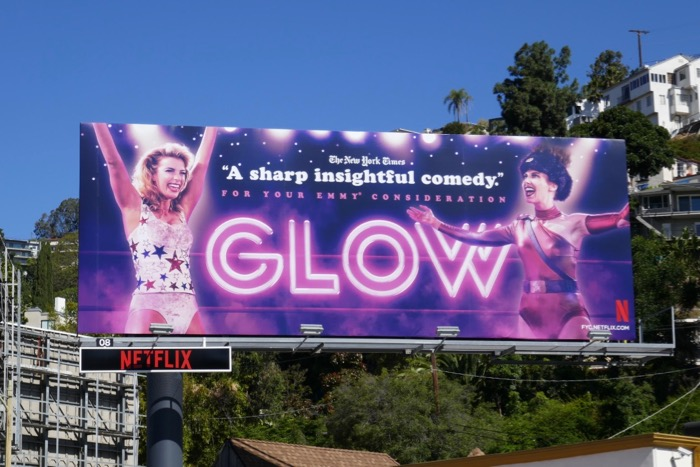 GLOW season 2 Emmy consideration billboard